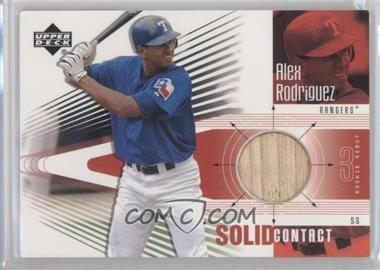 2002 Upper Deck Rookie Debut Solid Contact #SC-AR - Alex Rodriguez