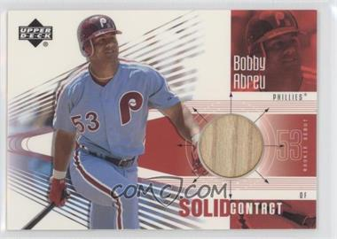 2002 Upper Deck Rookie Debut Solid Contact #SC-BA - Bobby Abreu