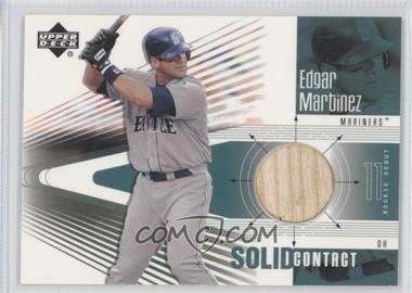 2002 Upper Deck Rookie Debut Solid Contact #SC-EM - Edgar Martinez