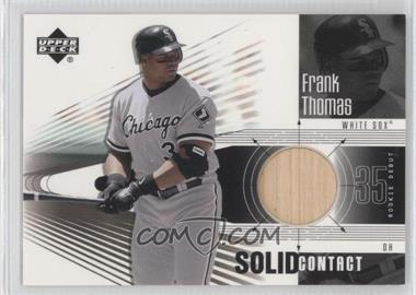 2002 Upper Deck Rookie Debut Solid Contact #SC-FT - Frank Thomas