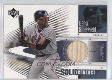 2002 Upper Deck Rookie Debut Solid Contact #SC-GS - Gary Sheffield