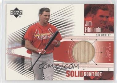 2002 Upper Deck Rookie Debut Solid Contact #SC-JE - Jim Edmonds
