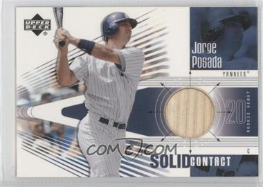 2002 Upper Deck Rookie Debut Solid Contact #SC-JP - Jorge Posada