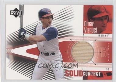 2002 Upper Deck Rookie Debut Solid Contact #SC-OV - Omar Vizquel
