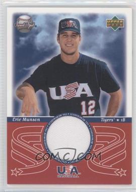 2002 Upper Deck Sweet Spot - USA Memorabilia #USA-EM - Eric Munson