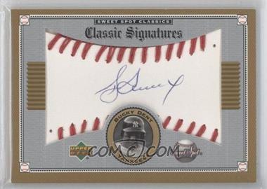 2002 Upper Deck Sweet Spot Classics Classic Signatures #S-BD - Bucky Dent