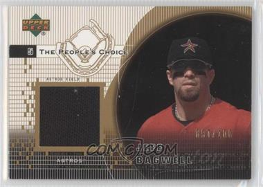 2002 Upper Deck The People's Choice Jerseys Gold #PJ-JBA - Jeff Bagwell /100