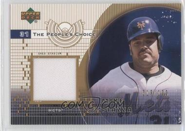 2002 Upper Deck The People's Choice Jerseys Gold #PJ-MP - Mike Piazza /100