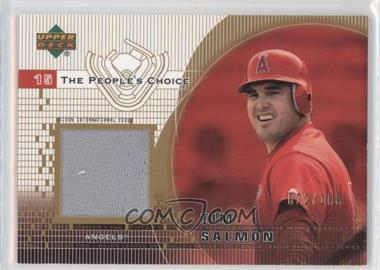 2002 Upper Deck The People's Choice Jerseys Gold #PJ-TS - Tim Salmon /100