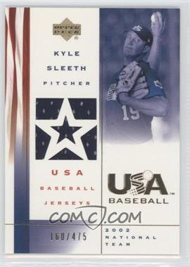 2002 Upper Deck USA Baseball - Jerseys #US-KS - Kyle Sleeth /475