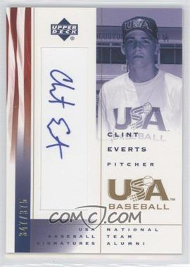 2002 Upper Deck USA Baseball [???] #CE - Clint Everts /375