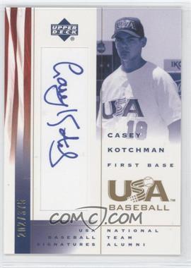 2002 Upper Deck USA Baseball [???] #CK - Casey Kotchman /375