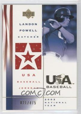 2002 Upper Deck USA Baseball [???] #US-LP - Landon Powell /475