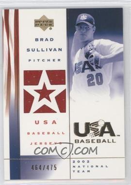 2002 Upper Deck USA Baseball Jerseys #US-BS - Brad Sullivan /475