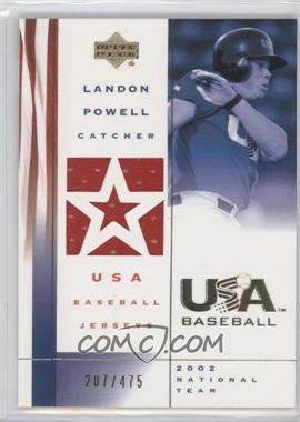 2002 Upper Deck USA Baseball Jerseys #US-LP - Landon Powell /475
