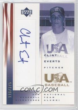 2002 Upper Deck USA Baseball Signatures #CE - Clint Everts /375