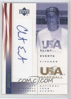 2002 Upper Deck USA Baseball Signatures #CE - Clint Everts /375