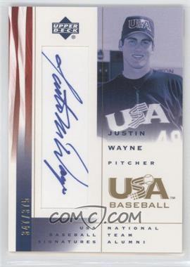 2002 Upper Deck USA Baseball Signatures #JW - Justin Wayne /375
