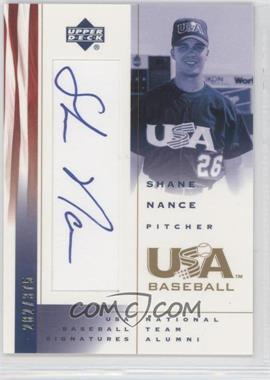 2002 Upper Deck USA Baseball Signatures #SN - Shane Nance /375