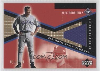 2002 Upper Deck Ultimate Collection Ultimate Game Jerseys Tier 3 #JP-AR - Alex Rodriguez