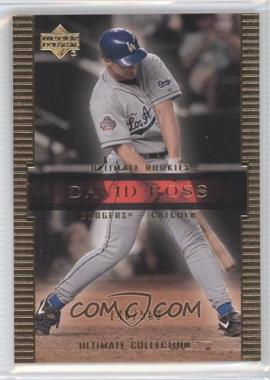 2002 Upper Deck Ultimate Collection #74 - David Ross /550