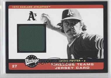 2002 Upper Deck Vintage Timeless Teams Jerseys #J-CH - Catfish Hunter