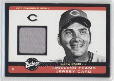 2002 Upper Deck Vintage Timeless Teams Jerseys #J-JB - Johnny Bench