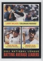 Larry Walker, Toby Hall, Moises Alou, Todd Helton