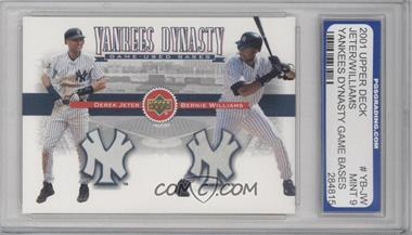 2002 Upper Deck Yankees Dynasty Game-Used Materials Combos #YB-JW - Derek Jeter, Bernie Williams [ENCASED]