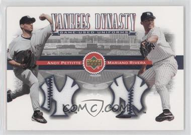 2002 Upper Deck Yankees Dynasty Game-Used Materials Combos #YB-PR - Andy Pettitte, Mariano Rivera