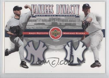 2002 Upper Deck Yankees Dynasty Game-Used Materials Combos #YJ-PR - Andy Pettitte, Mariano Rivera