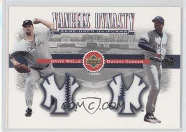 2002 Upper Deck Yankees Dynasty Game-Used Materials Combos #YJ-WG - David Wells, Dwight Gooden