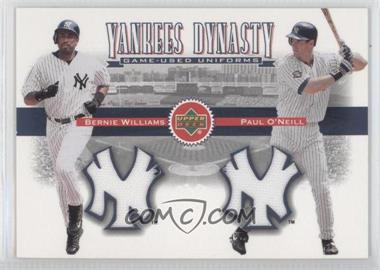 2002 Upper Deck Yankees Dynasty Game-Used Materials Combos #YJ-WO - Bernie Williams, Paul O'Neill