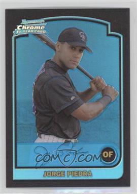 2003 Bowman Chrome [???] Blue Refractor #282 - Jorge Piedra