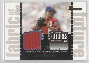 2003 Bowman Draft Picks & Prospects - Fabric of the Future #FF-ZG - Zack Greinke