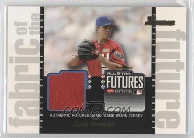 2003 Bowman Draft Picks & Prospects Fabric of the Future #FF-ZG - Zack Greinke