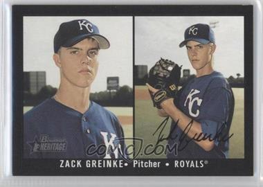 2003 Bowman Heritage - [Base] - Black Facsimile Signature #164 - Zack Greinke