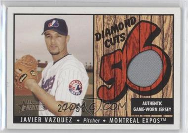 2003 Bowman Heritage Diamond Cuts Red #DC-JV - Javier Vazquez /56