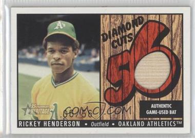 2003 Bowman Heritage Diamond Cuts Red #DC-RH - Rickey Henderson /56