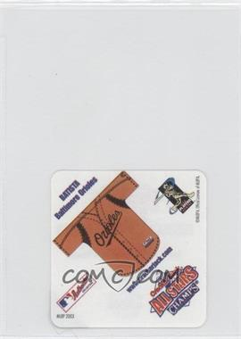 2003 Cracker Jack All Stars Food Issue Instant Win Game #N/A - Baltimore Orioles Team