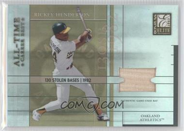 2003 Donruss Elite All-Time Career Best Materials [Memorabilia] #AT-33 - Rickey Henderson /400
