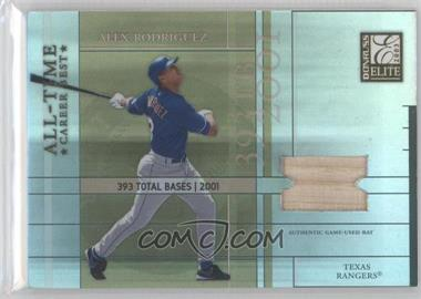 2003 Donruss Elite All-Time Career Best Materials [Memorabilia] #AT-36 - Alex Rodriguez /400