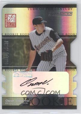 2003 Donruss Elite Extra Edition - [Base] - Turn of the Century Die-Cut Autographs [Autographed] #36 - Oscar Villarreal /100