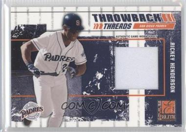 2003 Donruss Elite Throwback Threads #TT-53 - Rickey Henderson /125