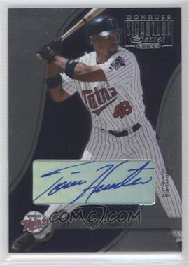 2003 Donruss Signature Series - [Base] - Authentic Signature [Autographed] #51 - Torii Hunter