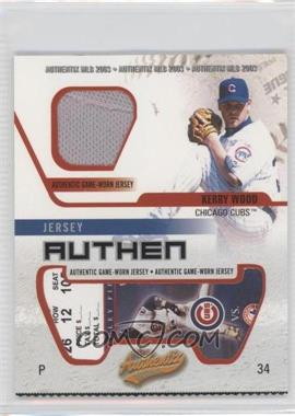 2003 Fleer Authentix [???] #JA-KW - Kerry Wood
