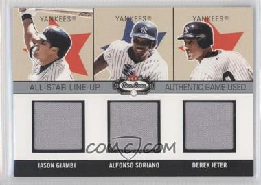 2003 Fleer Box Score All-Star Line-Up Authentic Game-Used #4 ASL - Jason Giambi, Alfonso Soriano, Derek Jeter