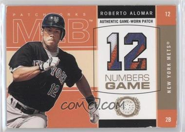 2003 Fleer Patchworks - Numbers Game - Patch [Memorabilia] #RA-NG - Roberto Alomar /300