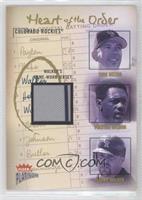 Todd Helton, Preston Wilson, Larry Walker (Larry Walker Jersey) /400