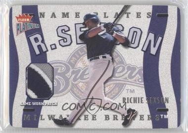 2003 Fleer Platinum Nameplates #N-RS - Richie Sexson /160